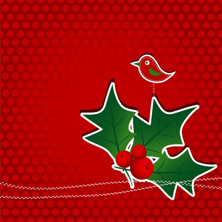 Template christmas greeting card, vector illustration Stock Vector - 11184524