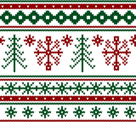 knitted background: Seamless knitted christmas pattern, vector illustration Illustration