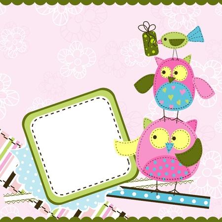 Template birthday greeting card, vector illustration Stock Vector - 11638257