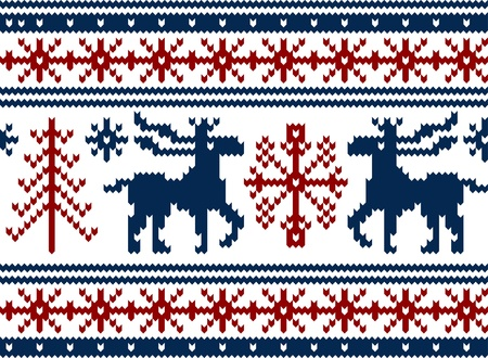 knitwear: Seamless knitted christmas pattern, vector illustration Illustration