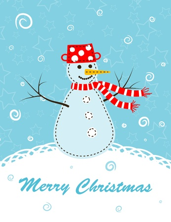 Template christmas greeting card, vector illustration Stock Vector - 11638286