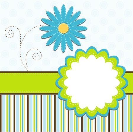 birth day: Template greeting card, vector illustration