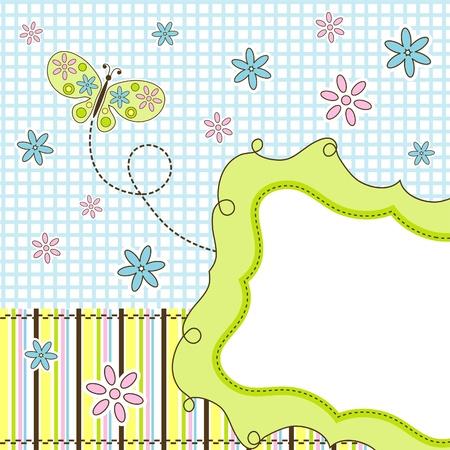 saludo: Plantilla de tarjetas de felicitaci�n, ilustraci�n vectorial Vectores