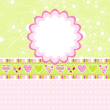 Template greeting card, illustration Vector