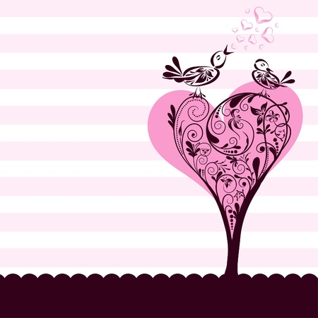 drawings image: Template greeting card, illustration Illustration