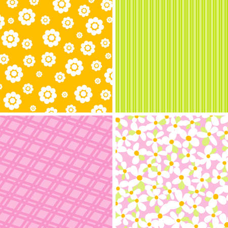 Scrapbook patterns for design, illustration Vector