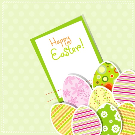 Template egg greeting card, illustration Stock Vector - 12138065