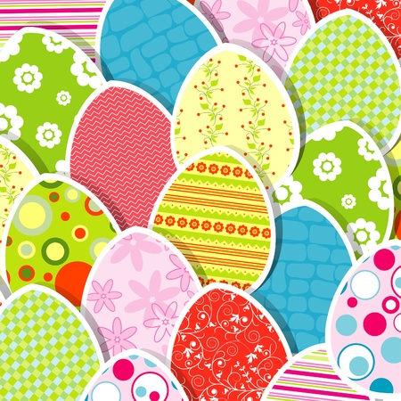 Template egg greeting card, illustration Stock Vector - 12138072