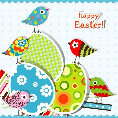 Template egg greeting card, illustration Stock Vector - 12138048