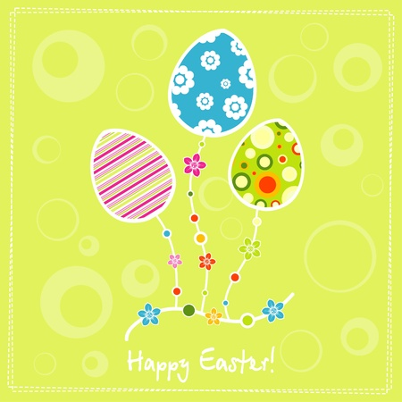 Template egg greeting card, vector illustration Stock Vector - 12472413