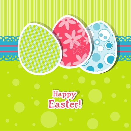 Template egg greeting card, vector illustration Vector