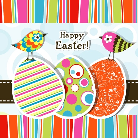 Template Easter greeting card, vector illustration Stock Vector - 12472418