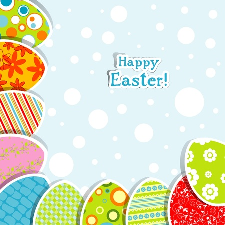 Template Easter greeting card, vector illustration Stock Vector - 12472508