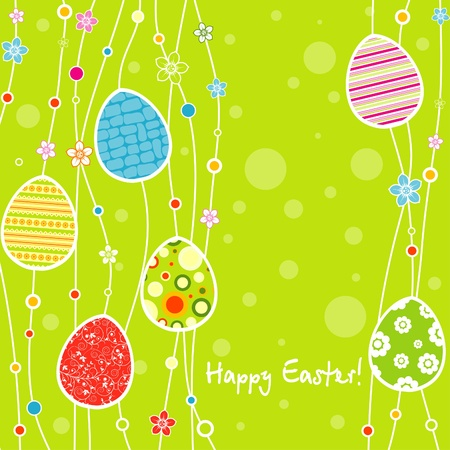 Template Easter greeting card, vector illustration Stock Vector - 12472496