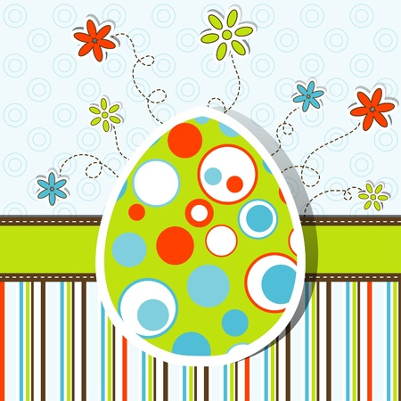 Template Easter greeting card, vector illustration Stock Vector - 12472454
