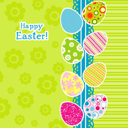 Template Easter greeting card, vector illustration Illustration