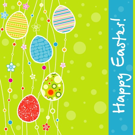 Template Easter greeting card, vector illustration Stock Vector - 12472490