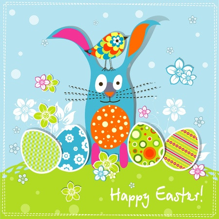 Template Easter greeting card, vector illustration Stock Vector - 12798173