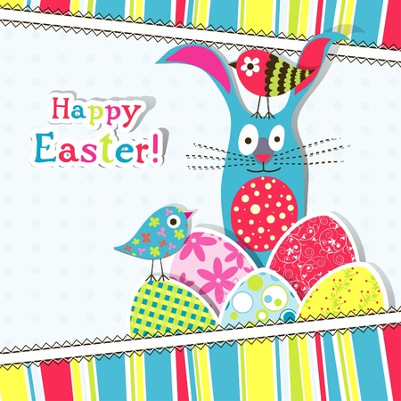 Template Easter greeting card, vector illustration Stock Vector - 12798174