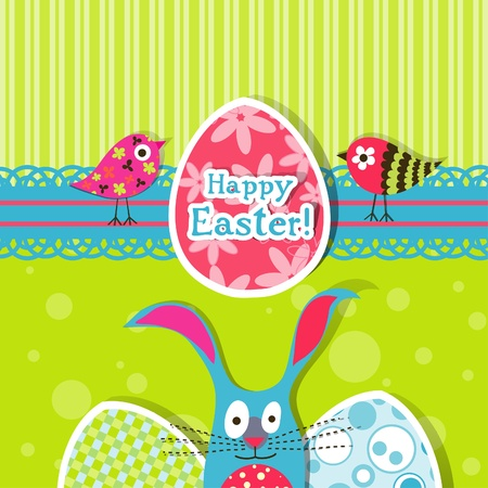 Template Easter greeting card, vector illustration Stock Vector - 12798163