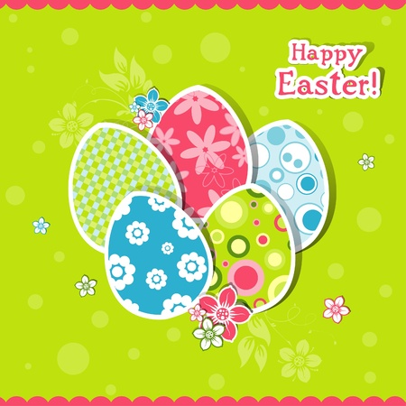 Template Easter greeting card, vector illustration Stock Vector - 12798168