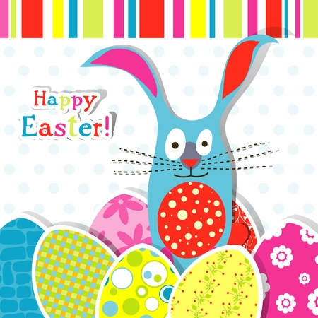 Template Easter greeting card, vector illustration Stock Vector - 12798170