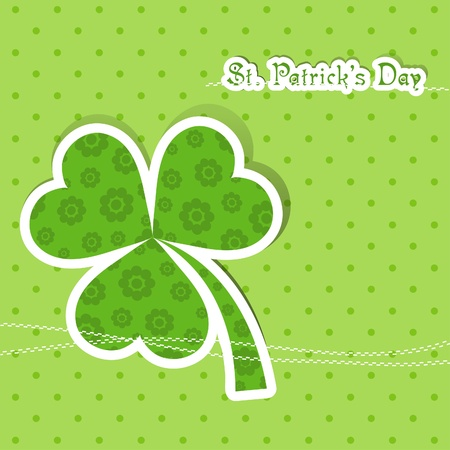 Template St. Patrick's day greeting card, vector illustration Stock Vector - 12798161
