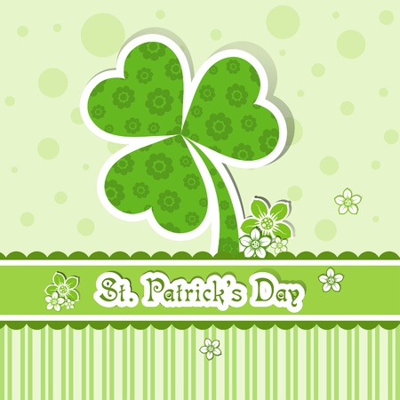 Template St. Patrick's day greeting card, vector illustration Stock Vector - 12798164