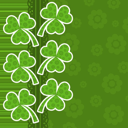 Template St. Patricks day greeting card, vector illustration Vector