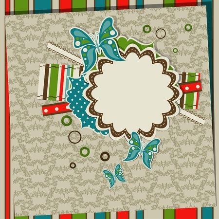 Template greeting card, scrap vector illustration Stock Vector - 13642749