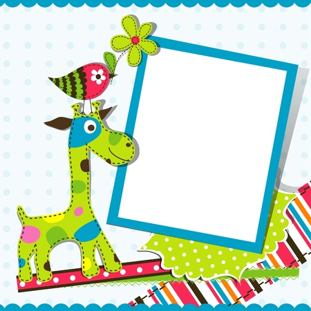 Template greeting card,  illustration