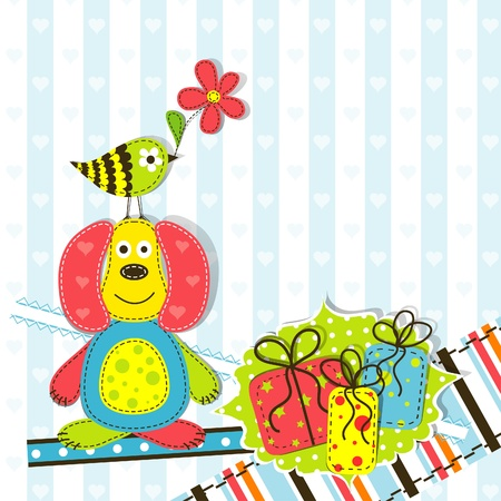birth day: Template greeting card,  illustration