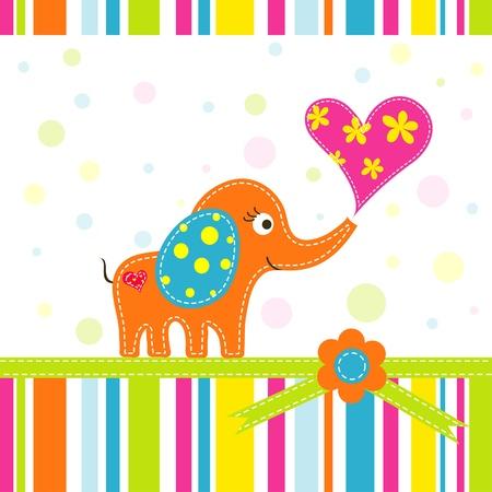 Template greeting card, scrap illustration Stock Vector - 15551158