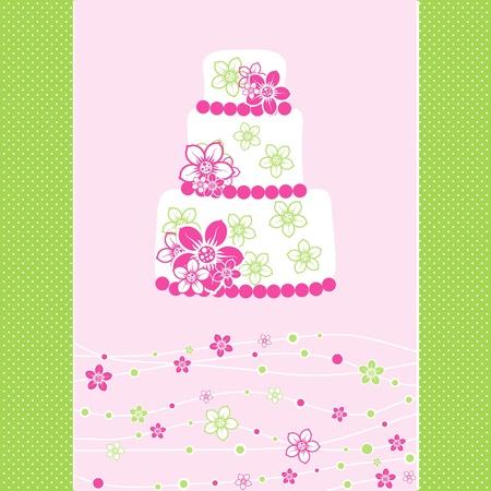 birth day: Template greeting card, illustration Illustration
