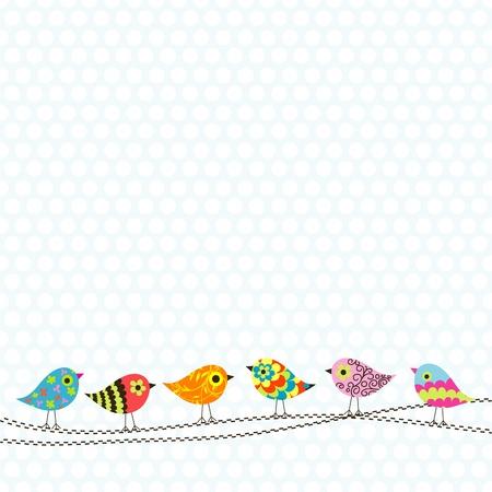 scrapbook background: Template greeting card, illustration Illustration