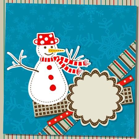 Šablona vánoční přání, vektorové ilustrace Ilustrace