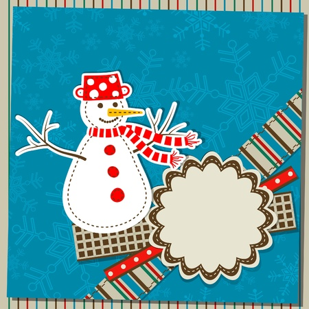 Template christmas greeting card, vector illustration Stock Vector - 15580058
