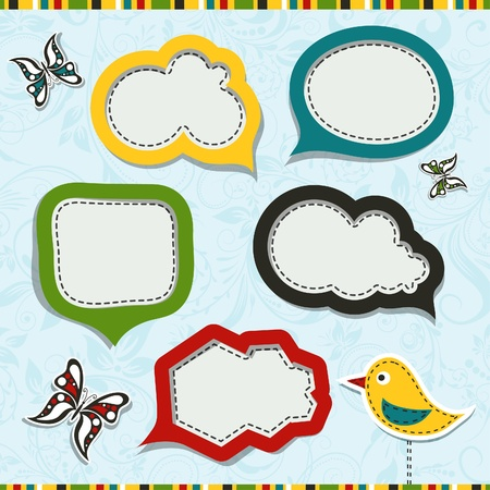 Template speak bubbles Vector