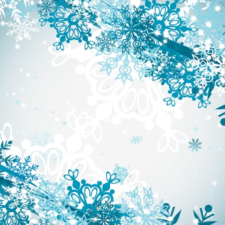 Seamless snowflakes pattern, illustration Illustration