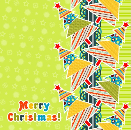 Template christmas greeting card, vector illustration Stock Vector - 16683814
