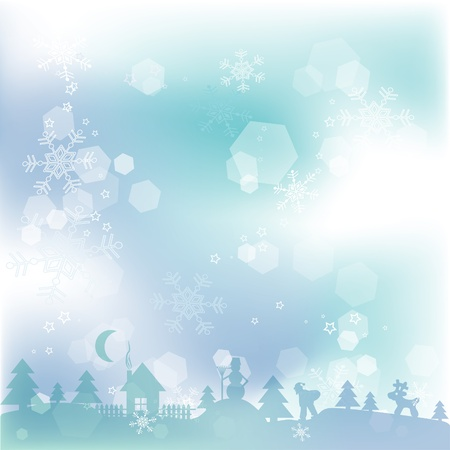Template Christmas greeting card background, vector illustration Stock Vector - 16683842