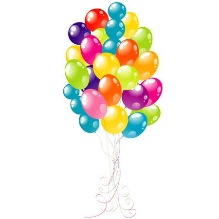 Color beautiful party balloons, vector illustration Stock Vector - 16683785
