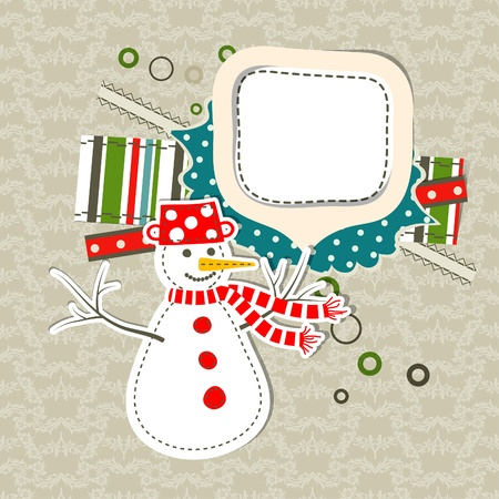 Template christmas greeting card, vector illustration Stock Vector - 16683851