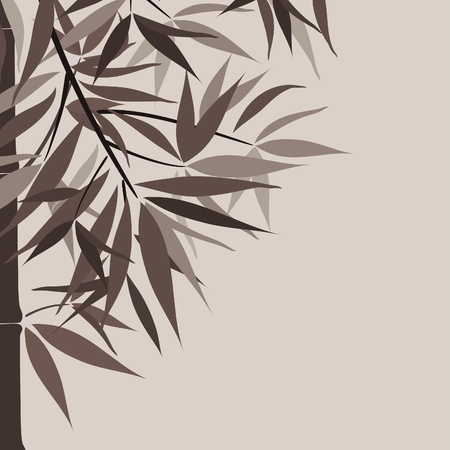 Bamboo background and sun, vector illustration Stock Vector - 16683780