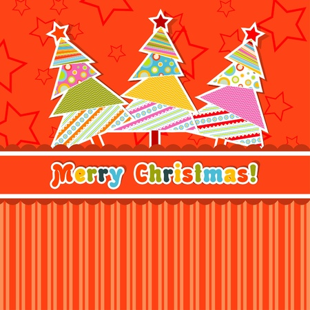 Template christmas greeting card, vector illustration Stock Vector - 16683797
