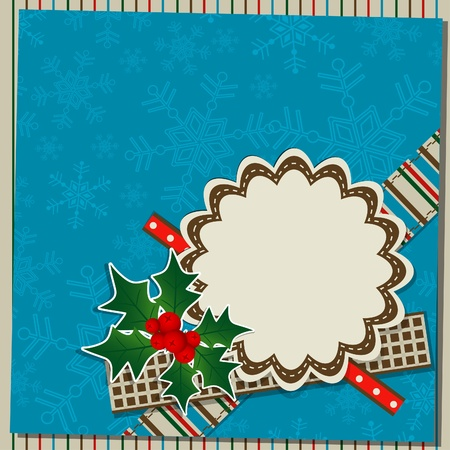 Template christmas greeting card, vector illustration Stock Vector - 16683824
