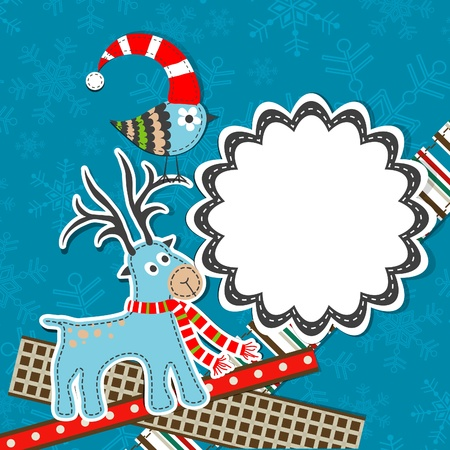 Template christmas greeting card, vector illustration Stock Vector - 16683832