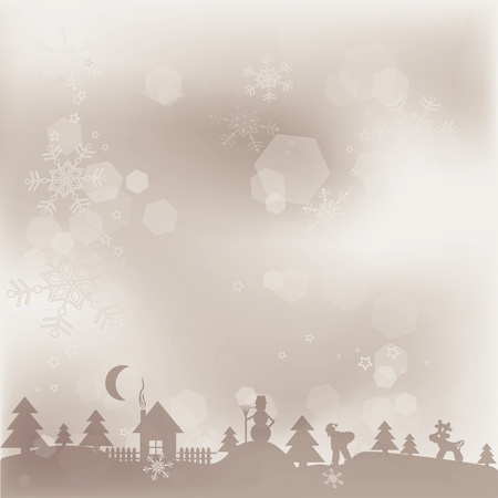 Template Christmas greeting card background, vector illustration Stock Vector - 16683840