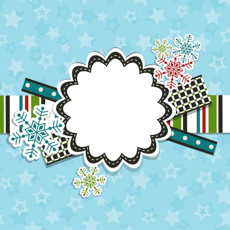 Template christmas greeting card, vector illustration Stock Vector - 16683795
