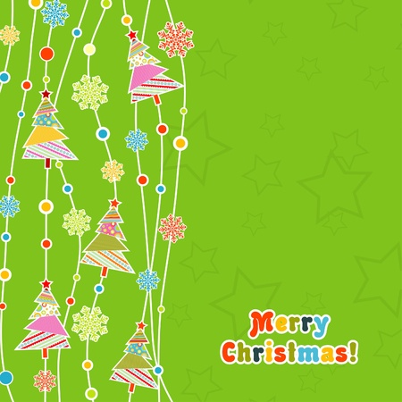 Template christmas greeting card, vector illustration Stock Vector - 16683815